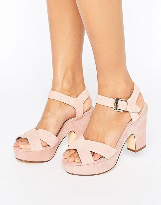 Iyla, Womens Ankle Strap Sandals Dune London