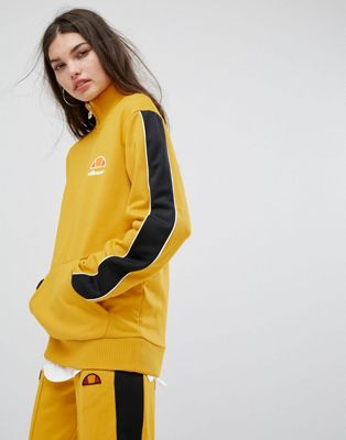 Image 1 of Ellesse High Neck Sweatshirt With Half Zip And Sports Stripe Tracksuit