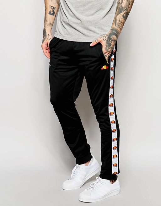 ellesse ellesse pantalon de surv tement skinny avec bande. Black Bedroom Furniture Sets. Home Design Ideas