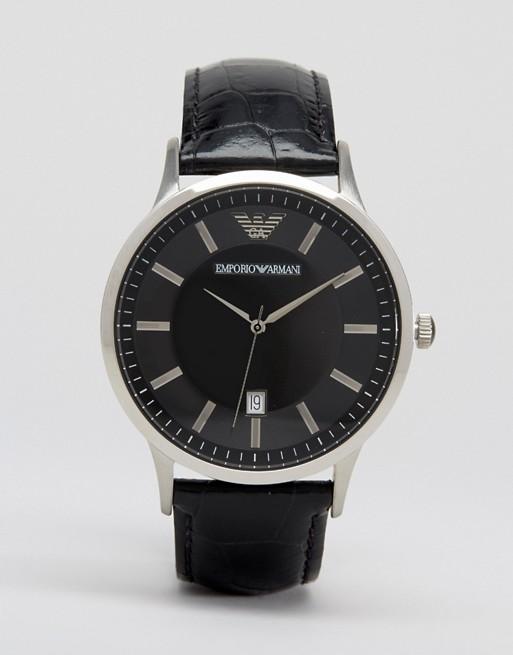 Emporio Armani - AR2411 - Montre bracelet en cuir