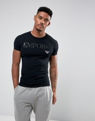 Image 1 of Emporio Armani  t-shirt with text logo
