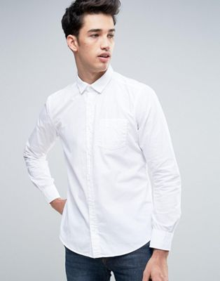 Image 1 of Esprit Slim Fit Button Down Shirt in White
