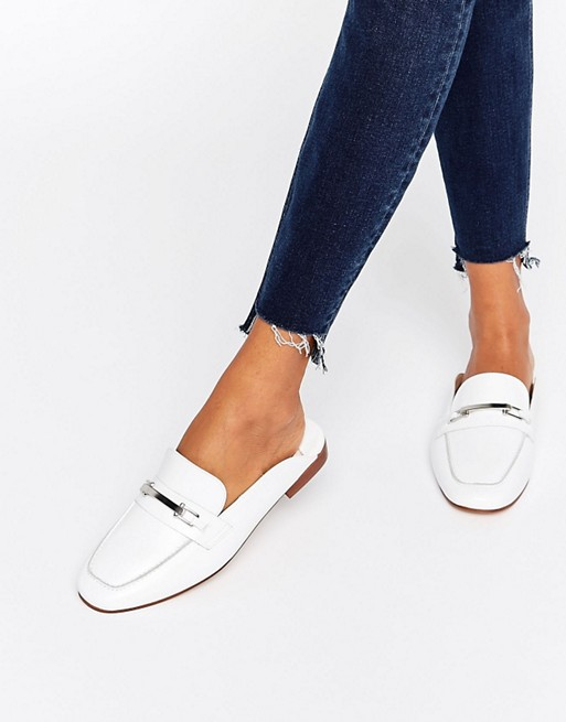 Faith Faith Backless Leather Loafers