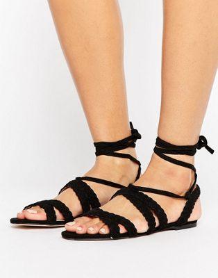 Image 1 of Faith Jude Braid Tie Up Sandals