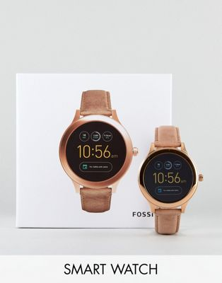 Bild 1 von Fossil – Q FTW6005 – Venture – Smart-Watch in Hellbraun