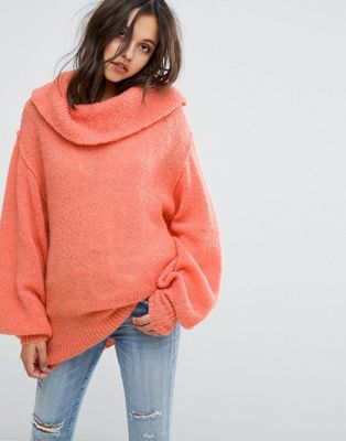 Image 1 of Free People Wide Neck Oversized Jumper