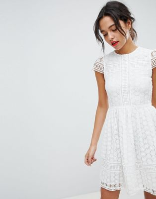 Image 1 of French Connection Lace Fit and Flare Dress