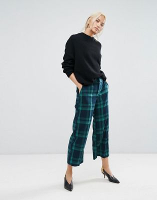Image 1 of Gestuz Check Culottes