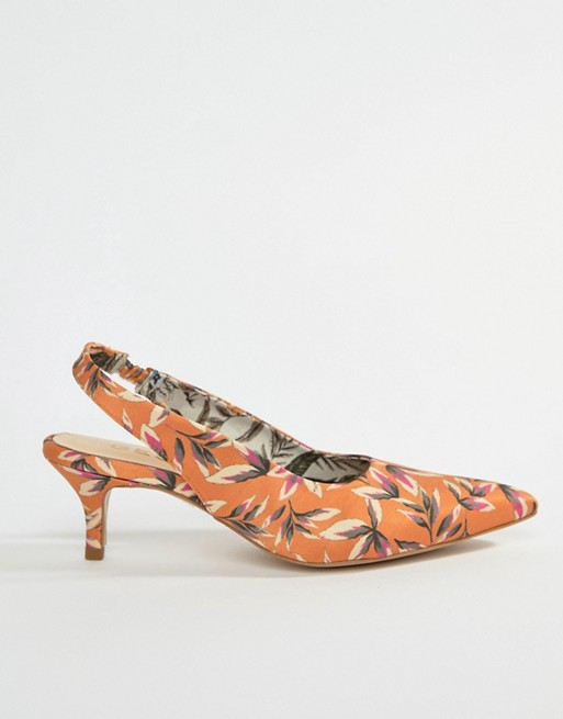 Heeled Printed Gestuz Orange Sandals Orange Gestuz x6nxwvHS0q
