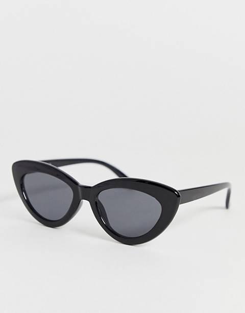 Glamorous black pointy cat eye sunglasses