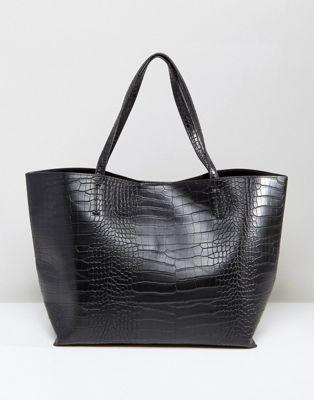 Image 1 of Glamorous Moc Croc Tote Bag