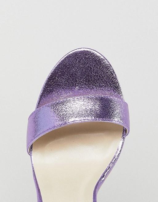Glamorous - Sandales minimalistes à talons carrés - Violet métallisé
