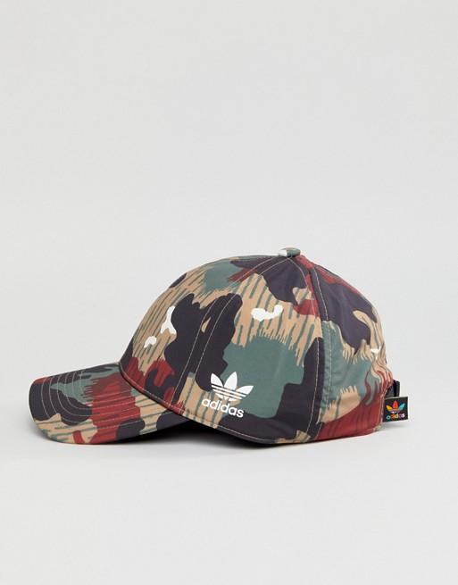 Gorra con estampado de camuflaje Hu de Adidas Originals X Pharrell Williams