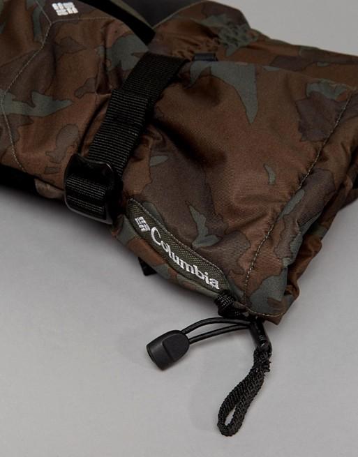 Guantes de esquí impermeables con estampado de camuflaje en gris oscuro Whirlibird de Columbia