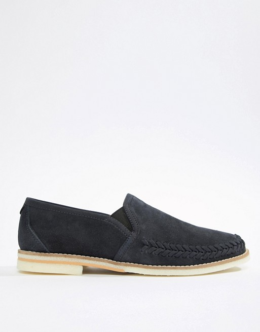 suede Hudson in H H Hudson By loafers Aldeburgh navy by YWaPW8O
