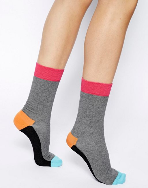 Image 1 of Happy Socks Colour Block Socks