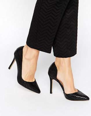 Image 1 of Head Over Heels By Dune Clariss Pointed Heeled Court Shoes