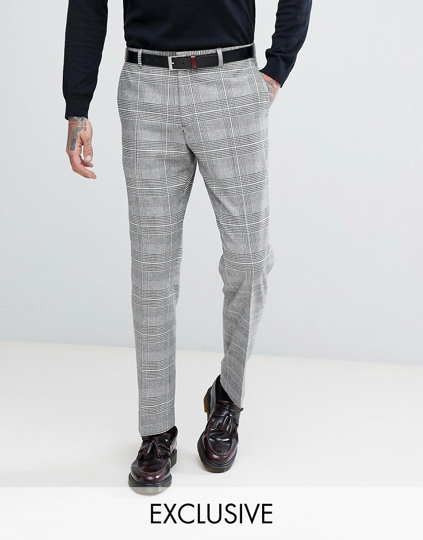 Heart & Dagger Slim Suit In Prince Of Wales Check by Heart & Dagger