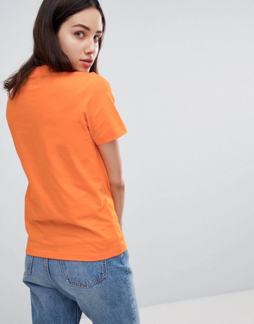 House Of Holland Artist Slogan T-Shirt - Orange House Of Holland