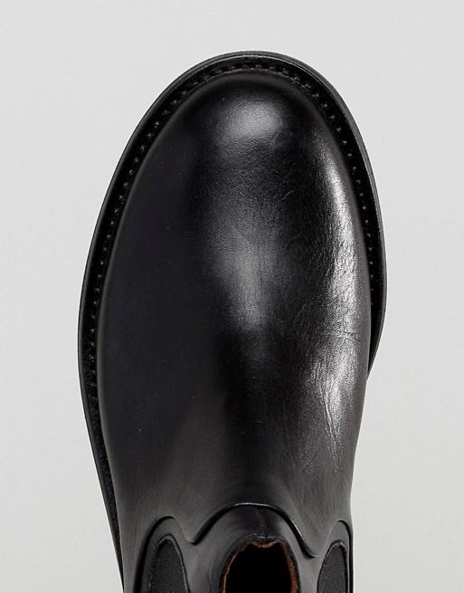 Hudson London - Carter - Bottines Chelsea en cuir - Noir Q7ge5hMb6k