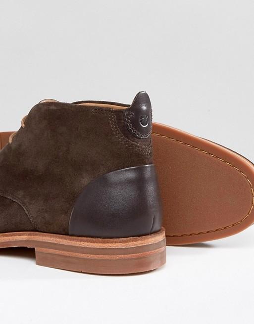 Hudson London - Matteo - Desert boots en daim - Marron