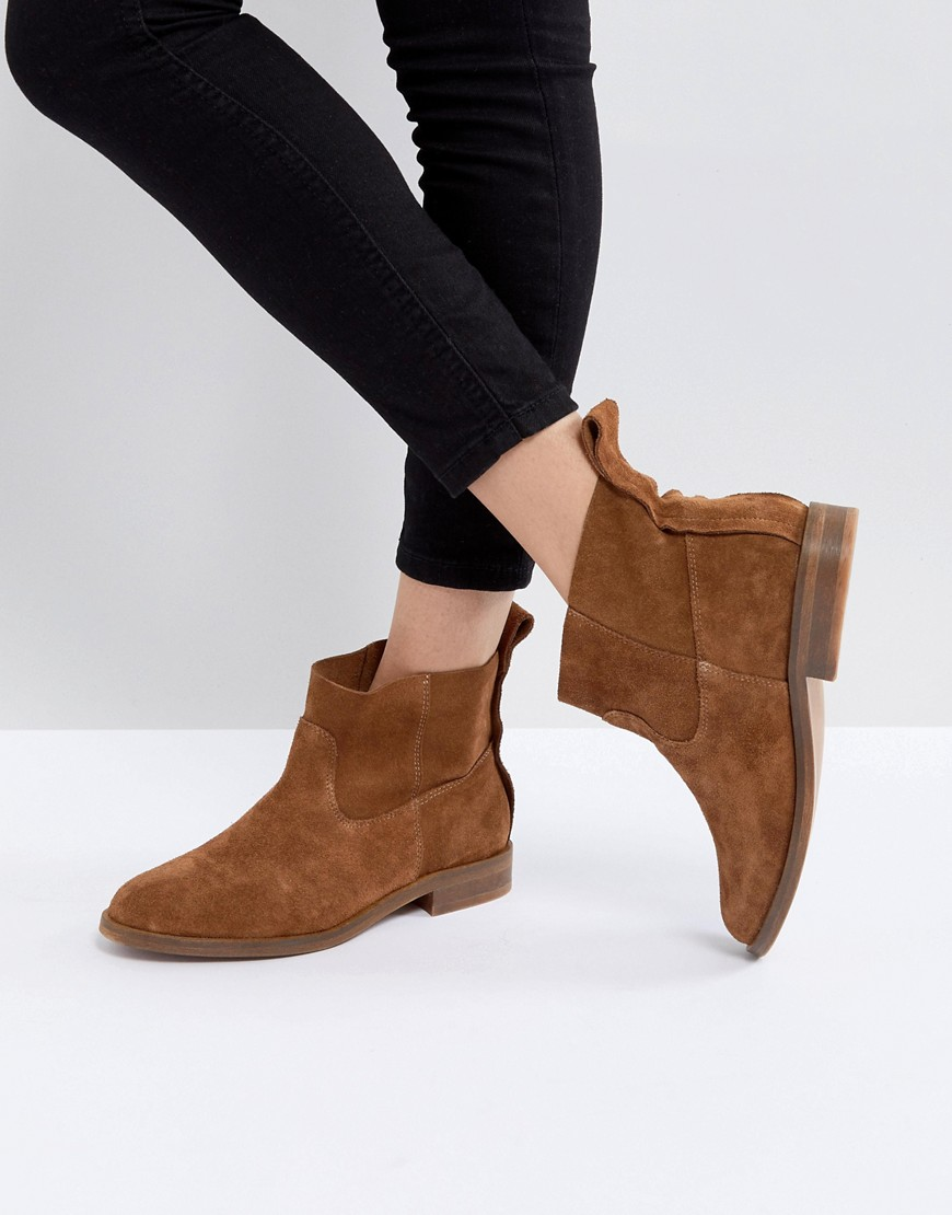 Hudson | Hudson London Ankle-Boots – Odina – Hellbraune Ankle-Boots London aus Wildleder 1cb537