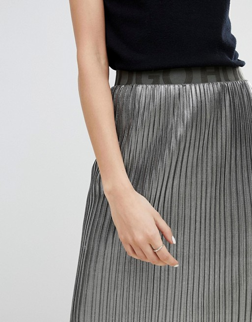 with Logo HUGO Skirt Metallic Waistband HUGO 0xpCSt