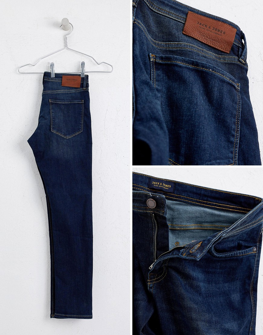 Jack & Jones Jeans In Slim Fit Rinsed Blue Denim by Jack & Jones