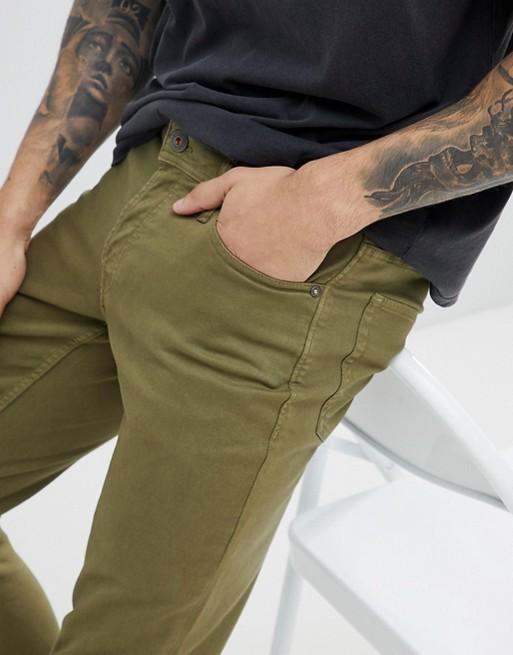 khaki fit Jones amp; Jones Jack jeans colored Jack denim slim amp; in pzfwAcqB