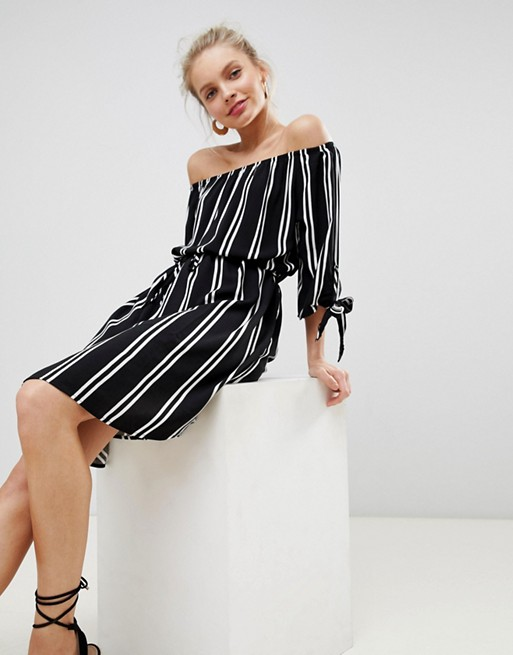 woven dress striped JDY bardot JDY wYnqPCwx6