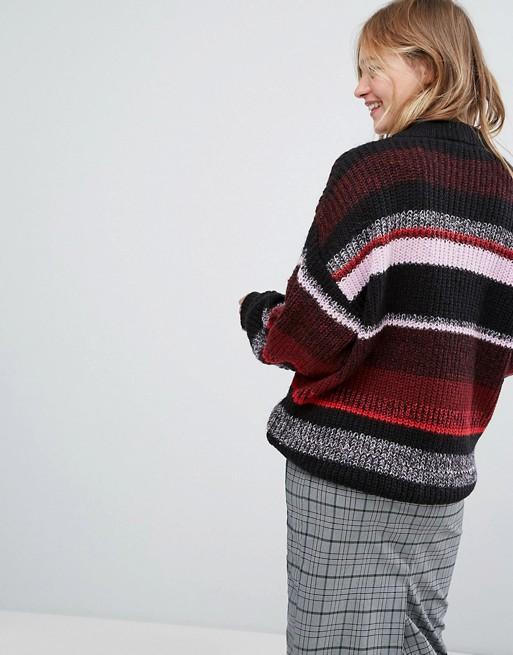 Jersey a rayas colour block de Monki