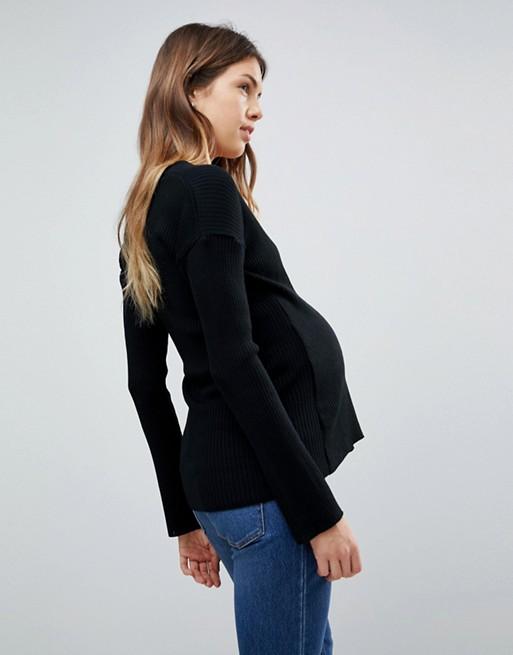 Jersey cruzado de ASOS Maternity