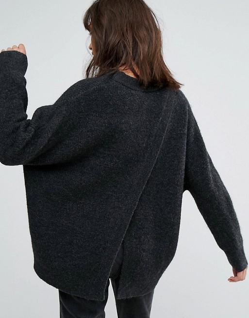 Jersey de punto con espalda abierta de Weekday