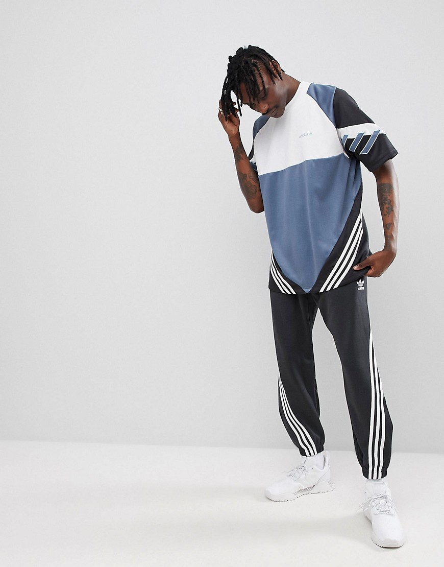 Joggers Cruzados En Negro Nova Ce4806 De Adidas Originals by Asos
