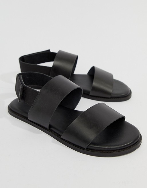 Kurt Black In Leather London Geiger Usher Sandals BnBRSUqw6