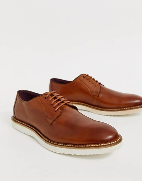 Lambretta lace up leather shoe with chunky sole