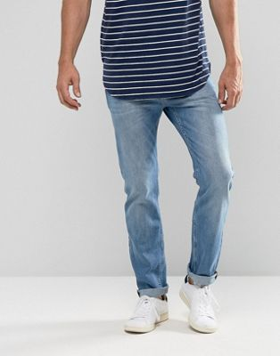Image 1 of Lee Rider Slim Fit Jean Light Wash