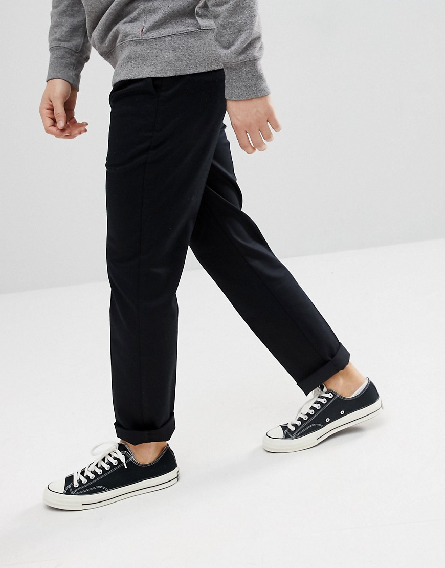 Levi's 502 Stay Press Tapered Chino Black by Levi's