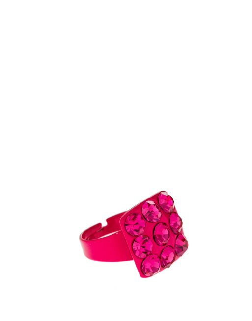 Image 1 of Limited Edition Adjustable Color Diamond Square Ring