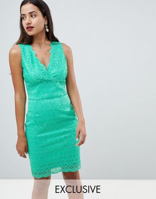 Image 1 of Lipsy lace bodycon dress