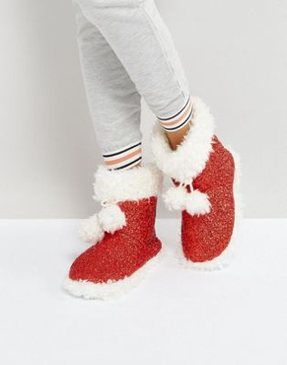 Image 1 sur Loungeable - Christmas Magic - Bottes pantoufles à paillettes