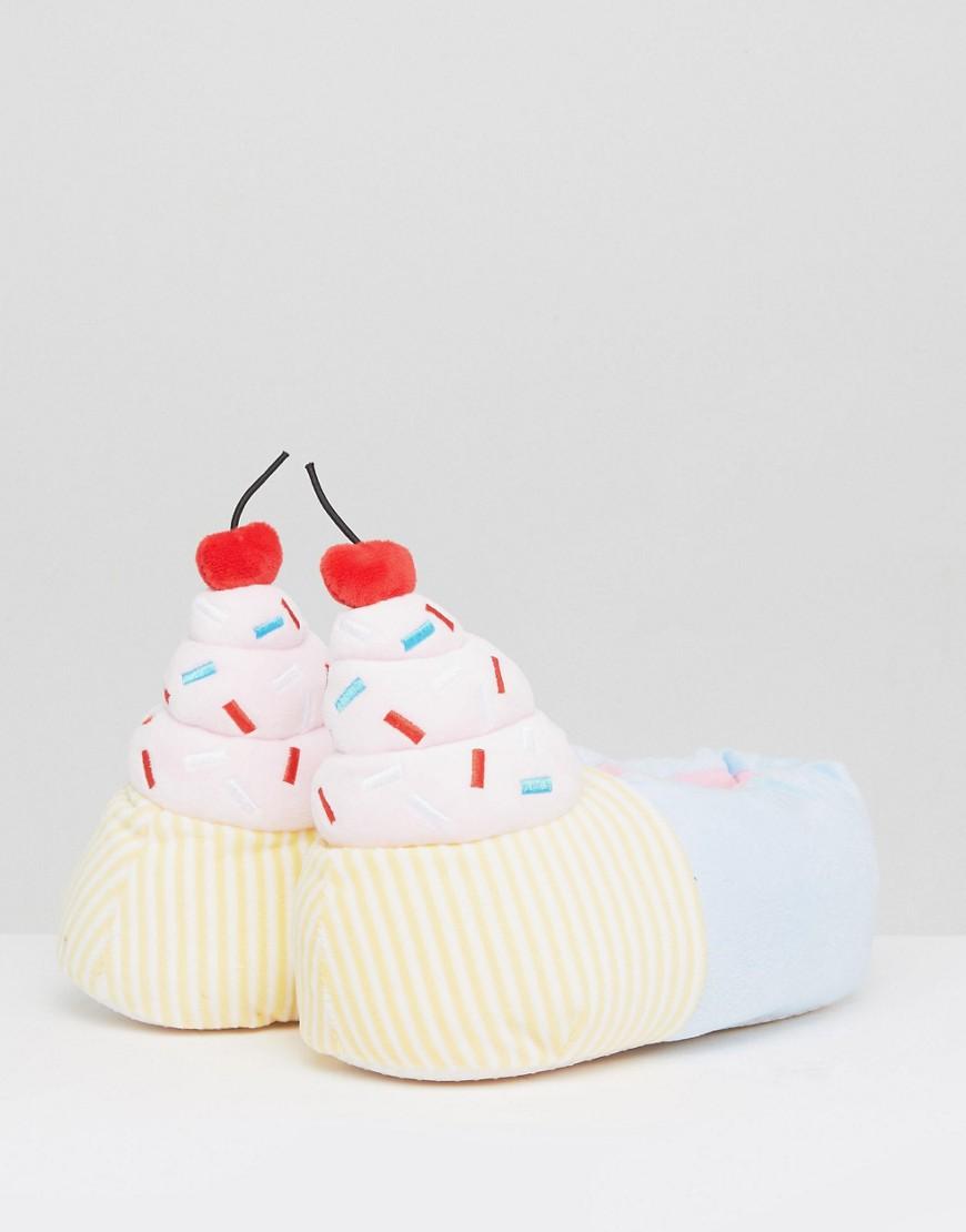 Hausschuhe im Cupcake-Design - Mehrfarbig Loungeable