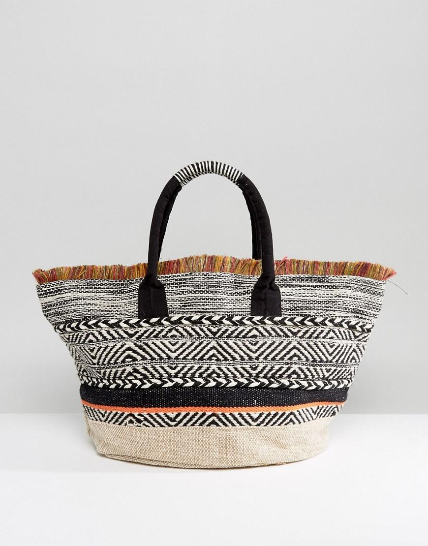 Mango | Mango Beach Bag With Fringing