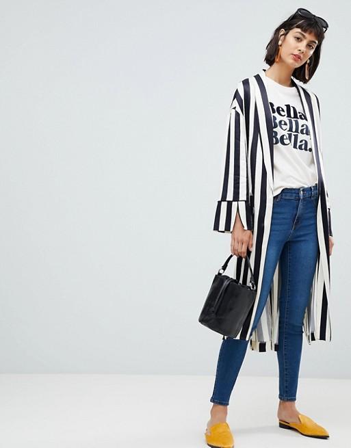 In Bella White Shirt T Graphic Mango dvwKqIgn