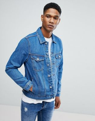 Image 1 of Mango Man Denim Jacket In Mid Wash