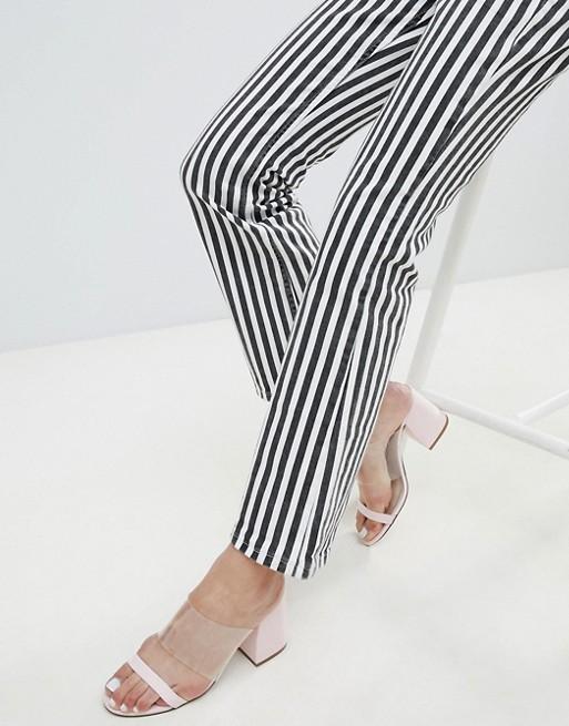 In Jean Black Kickflare Mono Stripe And White Mango XFwqItTnBw