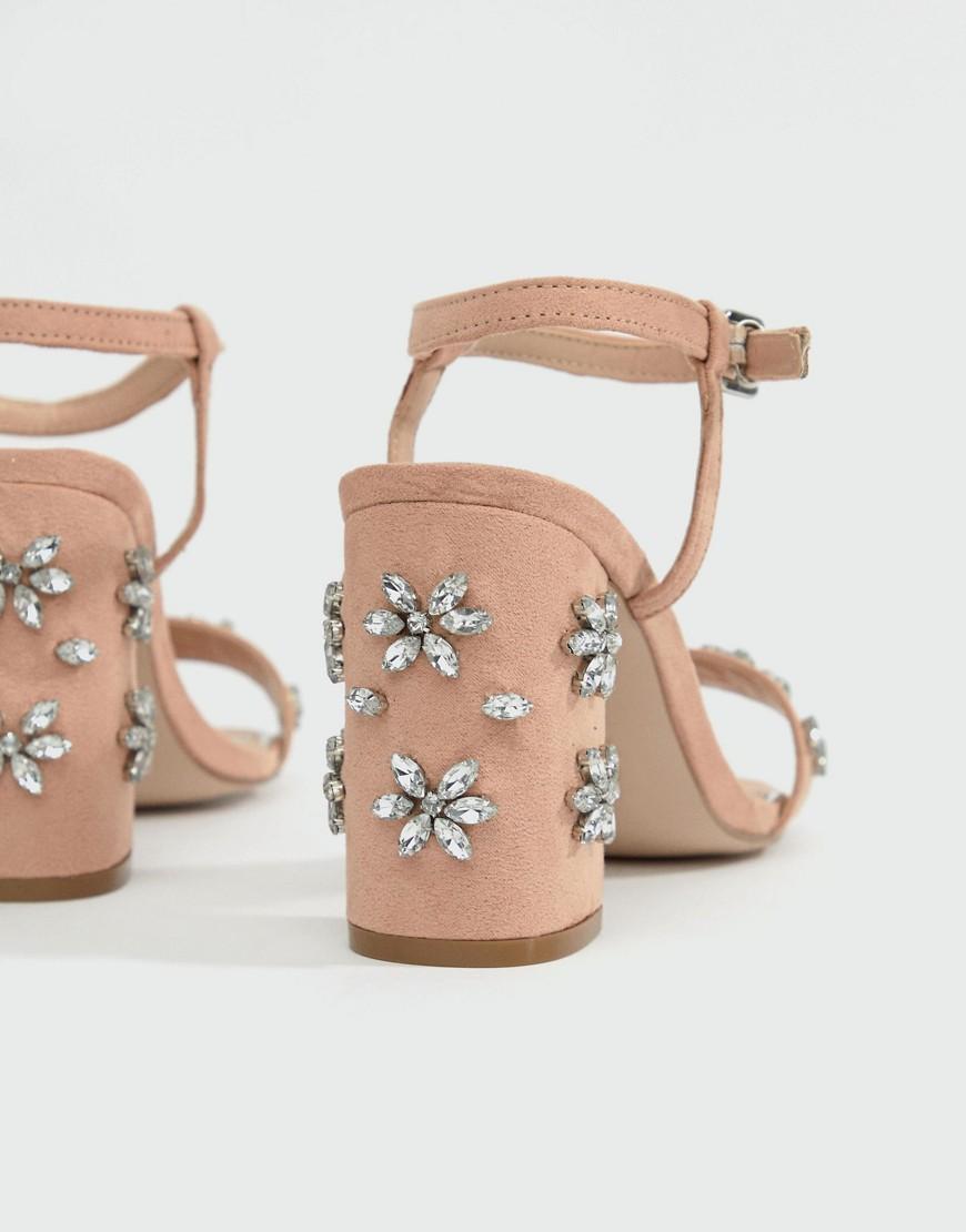 Miss Kg – Shimmer – Verzierte Sandalen Mit Absatz by Miss Kg