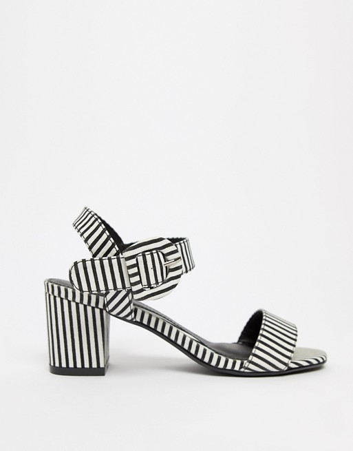 Missguided Heeled Striped Sandals Heeled Striped Sandals Missguided Missguided BOUxa