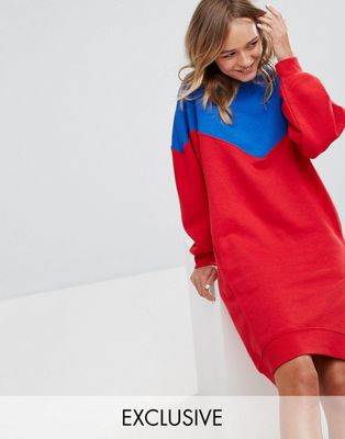 Image 1 of Monki Color Block Sweat Dress