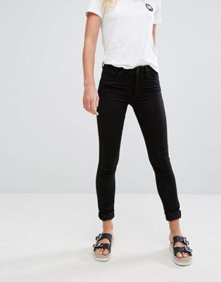 Image 1 of Monki Mocki Slim Mid Waist Jeans
